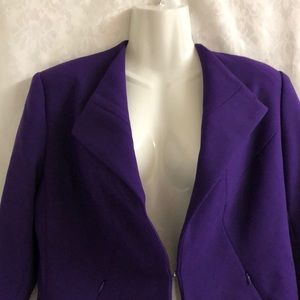 Carmen Marc Valvo Jackets & Coats - Carmen Marc Valvo purple blazer sz S